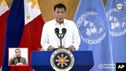 ဖိလစ္ပုိင္သမၼတ Rodrigo Duterte. (စက္တင္ဘာ ၂၁၊ ၂၀၂၁)