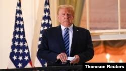 Presidente Donald Trump regressa à Casa Branca depois de três dias no hospital