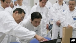 图为日本首相野田佳彦9月8日视察福岛核电站资料照