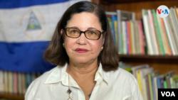 Violeta Granera, miembro de la Coalición Nacional fue una de las que interpuso un recurso de inconstitucionalidad contra la Ley de Agentes Extranjeros. [Foto: Houston Castillo, VOA]