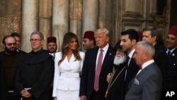 Le président Donald Trump et Mélania à Jérusalem, le 22 mai 2017.