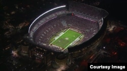 Bryant-Denny stadium holds over 100,000 people.