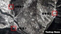 구글 어스가 지난해 11월 촬영한 북한 함경북도 길주군 풍계리 핵실험장 일대.