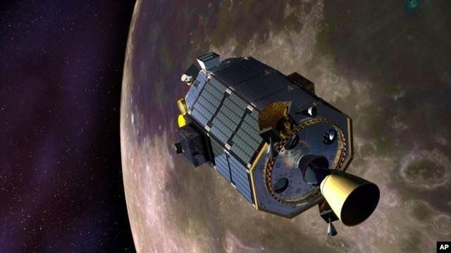 Hình vẽ kỹ thuật số mô phỏng chiếc phi thuyền LADEE do NASA cung cấp.