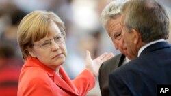 Almanya Başbakanı Angela Merkel Brezilya'daki Dünya Kupası final maçında