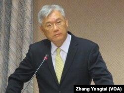 台湾陆委会主委夏立言 (美国之音张永泰拍摄)
