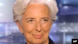 IMF ႏိုင္ငံတကာ ေငြေၾကးရန္ပံုေငြအဖဲြ႔ရဲ႕ အမႈေဆာင္ညႊန္ၾကားေရးမွဴး Christine Lagarde။