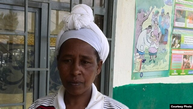 The leader of the Health Development Army volunteers in the village of Dosha is Datu Badadha. (VOA/Joana Mantey)