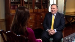Pompeo Talks With VOA