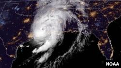 Hurricane Laura satellite image Aug. 27, 2020. (Photo: NOAA)