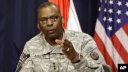 Panglima Komando Pusat AS yang membawahi kawasan Timur Tengah , Jenderal Lloyd Austin (foto: dok).