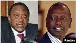 Prime Ministan Kenya Uhuru Kenyatta da Majalisar wakilai William Ruto (file photo)