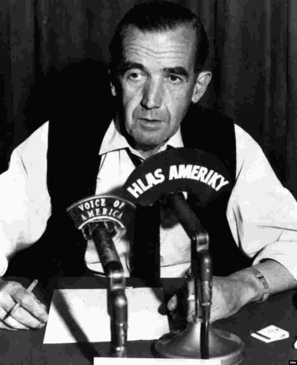 Edward R. Murrow, legendary journalist and Director of the U.S. Information Agency, VOA's parent organization, 1961-1964.