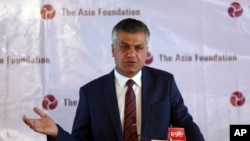 Ông Abdullah Ahmadzai, đại diện của Quỹ Châu Á tại Afghanistan, phát biểu ở Kabul, Afghanistan, 7/12/2016.