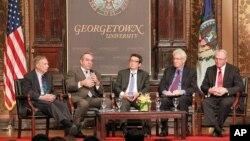 1일 워싱턴 조지타운대학에서 열린 아시아 정책 관련 토론회에 참석한 미국의 전현직 관리들.