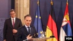 Nemački ministar spoljnih poslova Hajko Mas u poseti Beogradu 23. aprila 2021. godine (foto: Fonet)