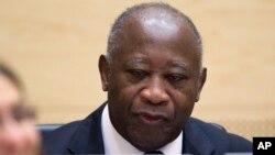 Laurent Gbagbo lors de sa première comparution à la CPI (5 déc. 2011)