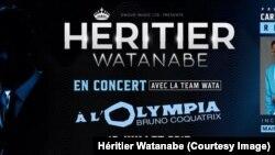 e officielle de l'annonce du concert du chanteur Héritier Watanabe, 15 juillet 2017. (Facebook/ Héritier Watanabe)