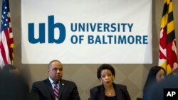 L'Attorney General Loretta Lynch à Baltimore le 5 mai 2015 (AP Photo/Jose Luis Magana, Pool)