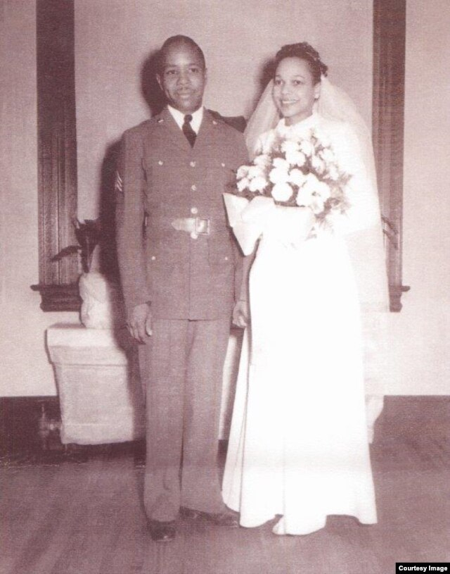 George Boggess, 102, seen here at his wedding 70 years ago, credits his longevity to wife Dorothy. (Photo courtesy George Boggess)