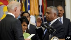 Vice President Biden administers the ceremonial oath of office to Todd Jones as Director of the Bureau of Alcohol, Tobacco, and Firearms (ATF) in the Roosevelt Room of the White House in Washington, Aug. 29, 2103.