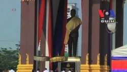 Cambodia's King Unveils A Statue of His Father