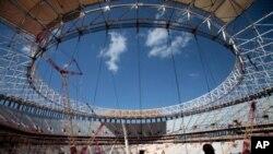 Dalam rangka menyukseskan penyelenggaraan Piala Dunia di Brazil PBB akan menyediakan berbagai macam fasilitas di luar stadion untuk tempat layanan dukungan serta sejumlah jasa keamanan (foto: dok).