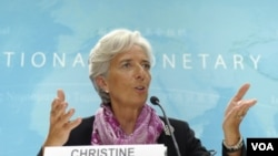 Kepala IMF, Christine Lagarde memuji langkah negara-negara zona Euro untuk mendukung pemulihan ekonomi di Eropa.