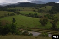 The beauty of these mountains in Laos' northeastern province of Xieng Khouang masks a deadly legacy that a decade of heavy U.S. bombing left behind: millions of unexploded bombs. (D. de Carteret for VOA)
