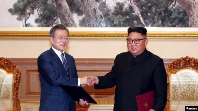 Hai nhà lãnh đạo gặp nhau lần thứ ba, ngày 19/9/2018, Bình Nhưỡng.