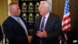اشرف جباری (چپ) و دیوید فریدمن سفیر آمریکا در اسرائیل