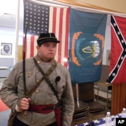 Town resident Brandon Adkins describes himself as a natural-born Confederate from upstate New York.