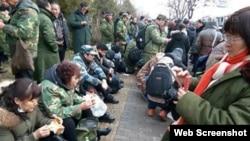 2013年3月的退伍军人维权集结现场 (网络照片)