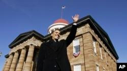 رئیس جمهوری آمریکا به شهر اسپرینگ فیلد رفت