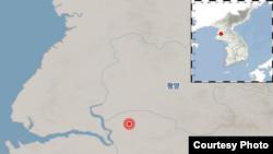 규모 2.0~3.0대 지진이 발생한 북한 송림. 출처: 한국 기상청.