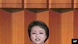 지난해 12월30일 이명박 정부와는 상종하지 않겠다는 북한 국방위 성명을 발표하는 조선중앙TV 아나운서