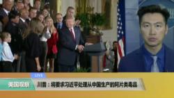 VOA连线:川普:将要求习近平处理从中国生产的阿片类毒品