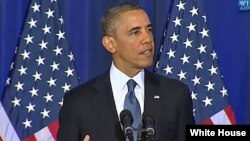 صدر اوباما ڈیفنس یونیورسٹی سے خطاب کرتے ہوئے