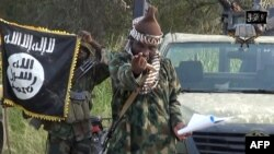 A screengrab taken on October 2, 2014 from a video released by the Nigerian Islamist extremist group Boko Haram and obtained by AFP purports to show the leader, Abubakar Shekau.