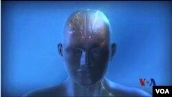 醫生在病人腦子深部植入了電極。