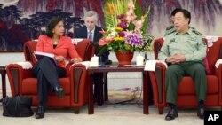 Američka savetnica za nacionalnu bezbednost, Suzan Rajs u razgovoru sa generalom Fangom Čenglongom u Pekingu, 9. septembra 2014.