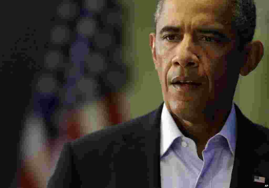 Predsednik Barack Obama na konferenciji za štampu u Edgartownu u državi Massachusetts, 20. augusta 2014.