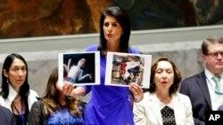 La embajadora también aseguró que la inteligencia estadounidense tiene pruebas de la autoría de Asad en el ataque con armas químicas de la semana pasada, pero estas evidencias están clasificadas.