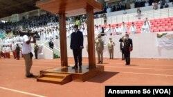 Úmaro Sissoco Embaló, Presidente da Guiné-Bissau, nas celebrações da independência, 24 de setembro de 2020