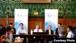유럽 최대 탈북자 단체 재유럽 조선인 총연합회 주도 하에 런던에서 열린 북한자유주간.
