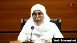 Wakil Ketua Komisi Pemberantasan Korupsi (KPK) Lili Pintauli Siregar. (Foto: tangkapan layar/Sasmito Madrim/VOA)