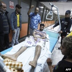 Tripolida havo hujumlaridan jarohat olganlar