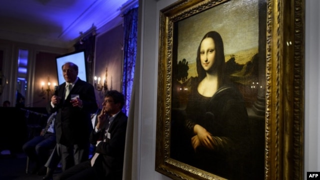 "The ""Isleworth Mona Lisa,"" seen here on in Geneva on September 27, 2012, is purported to be an earlier version of the ""Mona Lisa,"" painted by Leonardo da Vinci."