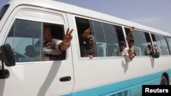 ບັນດາສະມາຊິກຊົນກຸ່ມນ້ອຍ Yazidi ທີ່ຫາກໍຖືກປ່ອຍໂຕ.