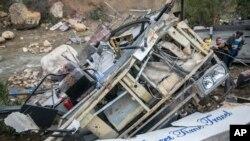 Kecelakaan bus di kawasan Amdoun, Tunisia, menewaskan sedikitnya 22 penumpang, Minggu (1/12).